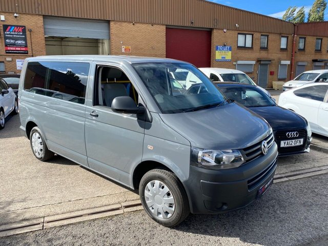 2013 63 VOLKSWAGEN TRANSPORTER 2.0 T30 TDI W/V 101 BHP IN A SPECIAL GREY COLOUR 7 SEATS NO VAT  SOLD TO GWILYM FROM BUKINGHAM
