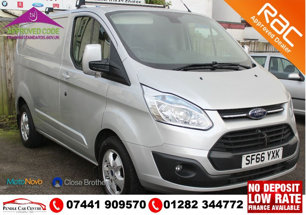 """USED 2016 66 FORD TRANSIT CUSTOM 2.2 270 LIMITED LR P/V 124 BHP NO VAT + Full Service History + NEW MOT INCLUDED + Electric Windows + Sony Dab Radio/cd player + 16"""" Alloys + Front & Rear Parking Sensors + Bluetooth + Auto Head Lights + Cruise Control +"""