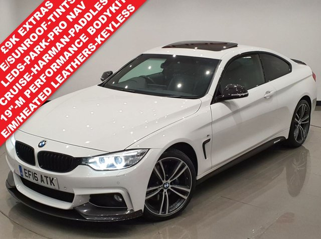 USED 2016 16 BMW 4 SERIES 2.0 420D (190 BHP) XDRIVE M SPORT AUTO COUPE 2DR..'M PERFORMANCE PACK'..�£9K EXTRAS..E/SUNROOF..NAV..E/M/HEATED LEATHERS..KEYLESS..PRIVACY 4WD+M PERFORMANCE+SUNROOF+LED+TINTS+PARK+LEATHR+NAV
