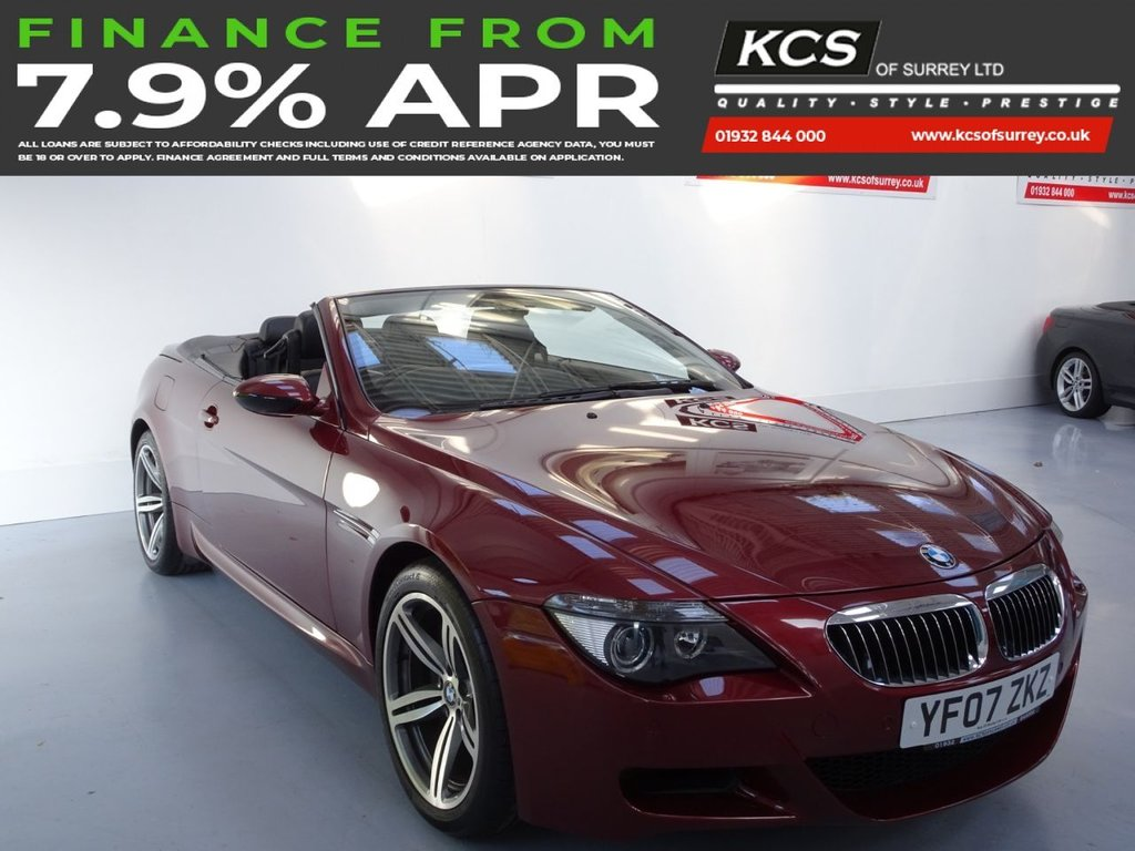USED 2007 07 BMW M6 5.0 M6 2d 507 BHP  CONVERTIBLE V10 M6 5.0 SMG CONVERTIBLE