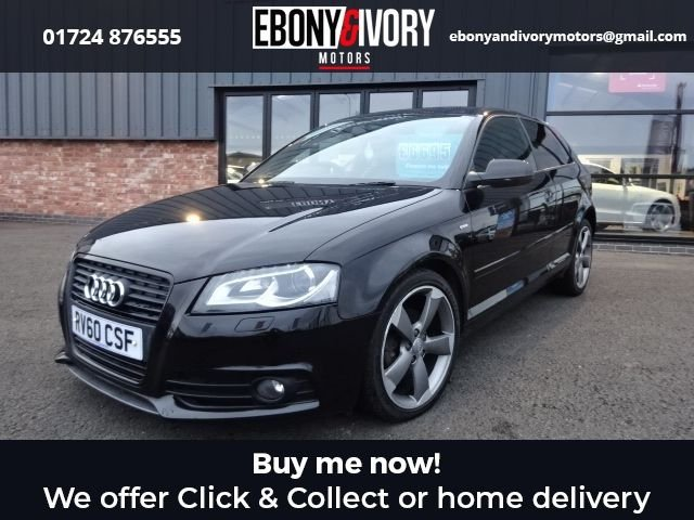 USED 2010 60 AUDI A3 2.0 TDI S LINE SPECIAL EDITION 3d 138 BHP + FULL SERVICE HISTORY + 1 YEAR MOT AND BREAKDOWN COVER