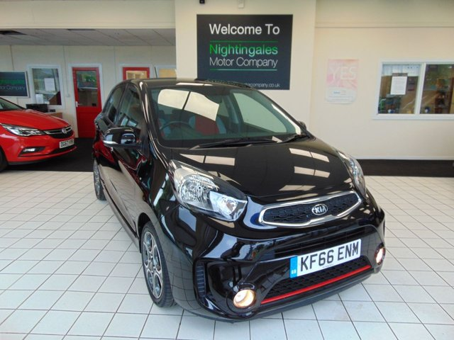 """USED 2017 66 KIA PICANTO 1.2 SPORT ISG 5d 84 BHP THIS VERY SMART KIA PICANTO 1.2 ISG SPORT 5 DOOR COMES WITH SERVICE HISTORY + MARCH 2021 MOT + SATELLITE NAVIGATION + BLUETOOTH + 7"""" TOUCHSCREEN INFO SYSTEM + AUX/USB + ELECTRIC FOLDING MIRRORS + ELECTRIC WINDOWS + REMOTE CENTRAL LOCKING + CRUISE CONTROL + AUTO LIGHTS + AUTO WIPERS + REVERSING CAMERA + STOP START + 60/40 REAR SEAT SPLIT + RDS RADIO/MP3 + DRIVERS SEAT HEIGHT ADJUSTMENT + ISOFIX + 15"""" ALLOY WHEELS + HILL START ASSIST + MOTOR DRIVER POWER STEERING + REAR PARK SENSORS + ONLY £20 ROA"""