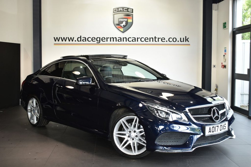 USED 2017 17 MERCEDES-BENZ E-CLASS 3.0 E 350 D AMG LINE EDITION 2DR AUTO 255 BHP LEATHER + FULL HISTORY + NAV + PAN ROOF + HEATED SEATS