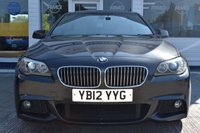 USED 2012 12 BMW 5 SERIES 2.0 520D M SPORT 4d 181 BHP AVAILABLE FOR ONLY £270 PER MONTH WITH £0 DEPOSIT