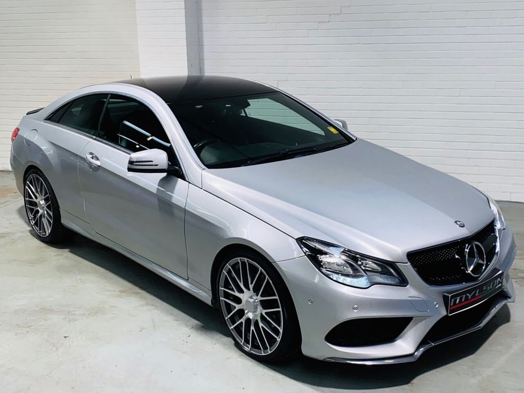 USED 2013 63 MERCEDES-BENZ E-CLASS 2.1 E250 CDI AMG SPORT 2d 204 BHP AMG Pack, 20in Wheels, Black Styling Pack, COMAND Media/Sat Nav, Black Leather Interior, Heated Seats