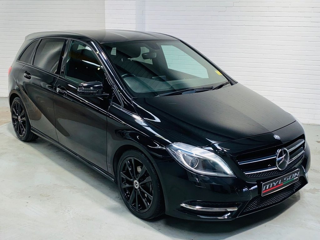 USED 2014 63 MERCEDES-BENZ B-CLASS 1.5 B180 CDI BLUEEFFICIENCY SPORT 5d 109 BHP DUE IN.. Black Leather, Privacy Glass, Reverse Camera, Xenon Lights, AMG Styling