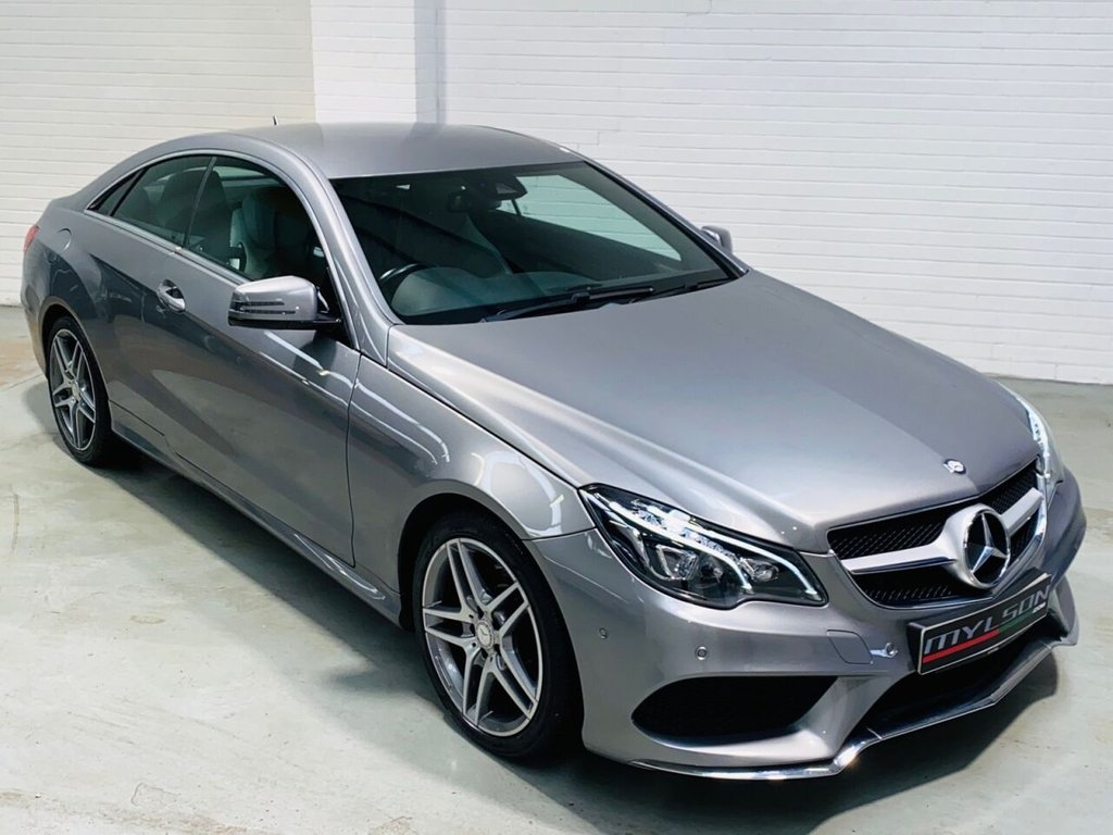 USED 2014 14 MERCEDES-BENZ E-CLASS 2.1 E250 CDI AMG SPORT 2d 204 BHP AMG Sport Coupe, Metallic Grey with Heated Leather, COMAND Online Media
