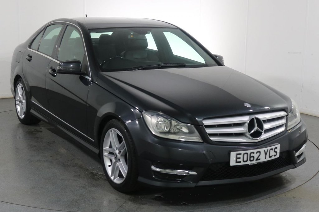 USED 2012 62 MERCEDES-BENZ C-CLASS 1.6 C180 BLUEEFFICIENCY AMG SPORT 4d 154 BHP 2 OWNERS with 4 Stamp SERVICE HISTORY