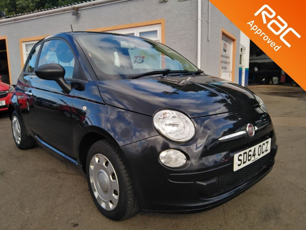 USED 2015 64 FIAT 500 1.2 POP 3d 69 BHP Cd player, Remote locking, 3 service Stamps, Low mileage, Free RAC Warranty and RAC Recovery