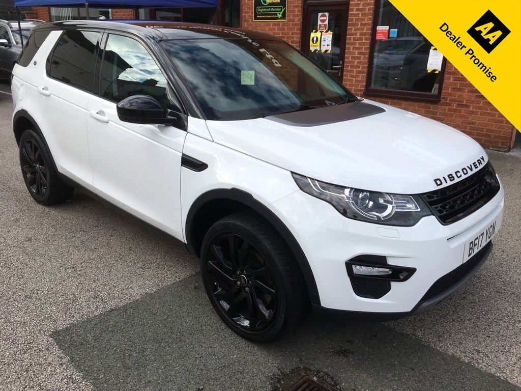 USED 2017 17 LAND ROVER DISCOVERY SPORT 2.0 TD4 HSE LUXURY 5d 180 BHP Family 7-Seater : Fixed panoramic glass roof : Full service history : Bluetooth : Sat Nav : Leather upholstery : Electric/Heated/Cooling front seats : Meridian sound system : Air-conditioning/Climate Control : LandRover Park Assist system : Cargo/Load cover : Remotely operated tailgate : Rear view camera : Front + rear parking sensors