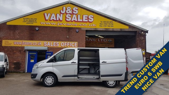 USED 2016 66 FORD TRANSIT CUSTOM 2.0 290 TREND SWB AIR CON P/SENSORS NICE VANS (((( LOTS MORE EURO 6 TREND L.T. D  ON SITE OVER 100 )))