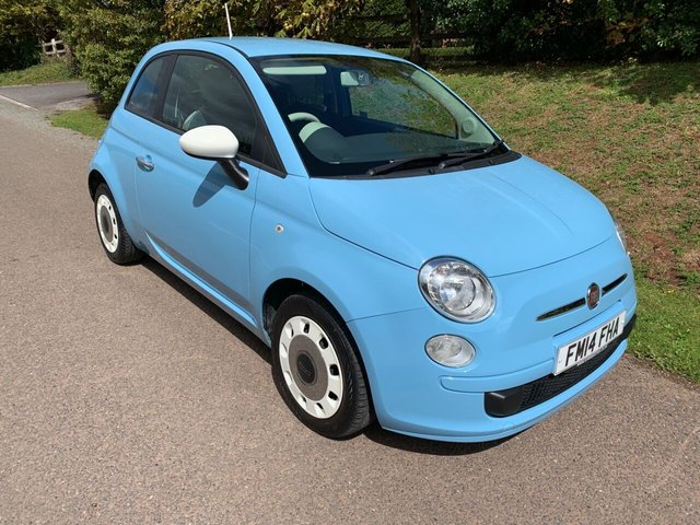 USED 2014 14 FIAT 500 1.2 COLOUR THERAPY 3d 69 BHP **£30 ROAD TAX**VERY LOW MILES**SERVICE HISTORY**LUSH COLOUR**