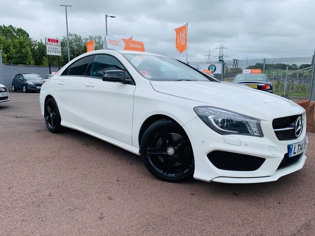 USED 2014 14 MERCEDES-BENZ CLA 2.1 CLA220 CDI AMG SPORT 4d 170 BHP stunning in white Stunning CLA