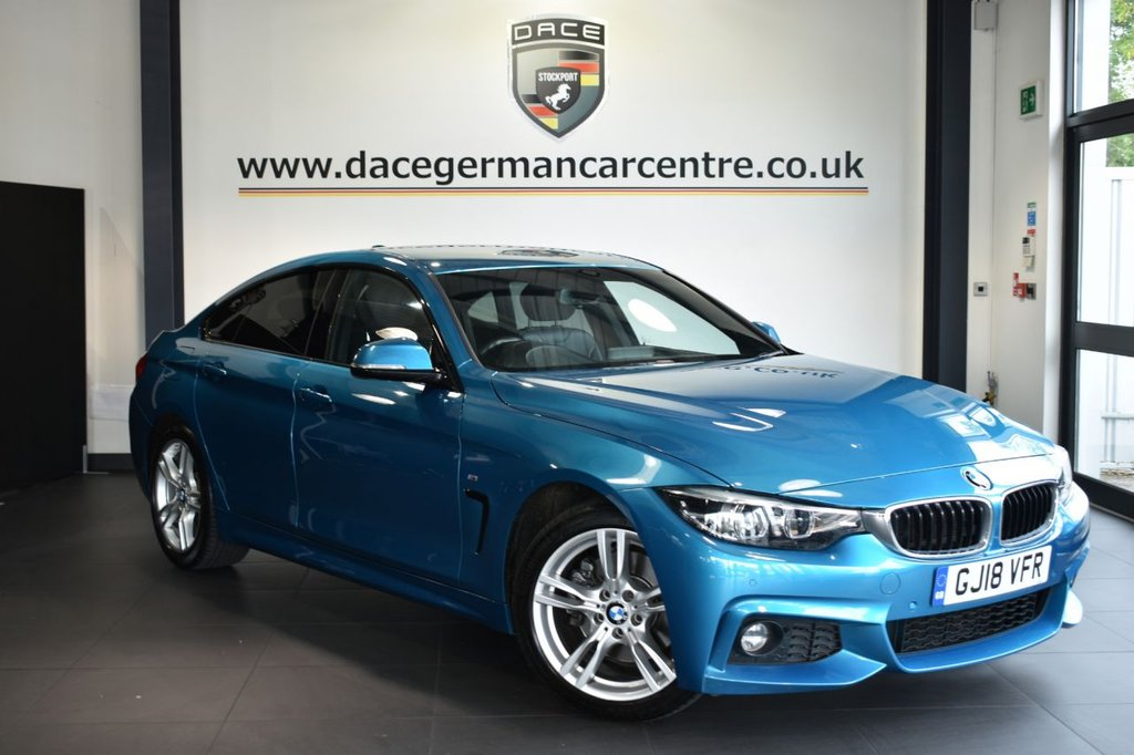 USED 2018 18 BMW 4 SERIES GRAN COUPE 2.0 430I M SPORT 4DR AUTO 248 BHP LEATHER + FULL HISTORY + PRO NAV + LEATHER + DAB