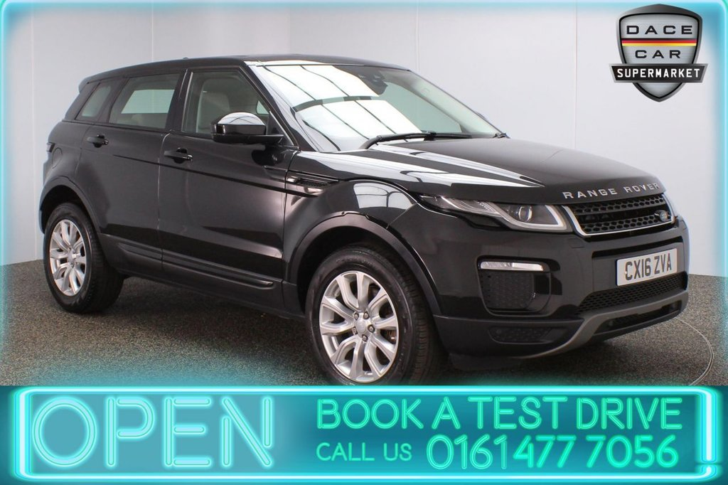 USED 2016 16 LAND ROVER RANGE ROVER EVOQUE 2.0 TD4 SE TECH 5DR 1 OWNER AUTO 177 BHP FULL SERVICE HISTORY + HEATED LEATHER SEATS + SATELLITE NAVIGATION + PARKING SENSOR + BLUETOOTH + CRUISE CONTROL + CLIMATE CONTROL + MULTI FUNCTION WHEEL + LANE ASSIST SYSTEM + XENON HEADLIGHTS + ELECTRIC FRONT SEATS + DAB RADIO + ELECTRIC WINDOWS + ELECTRIC/HEATED/FOLDING DOOR MIRRORS + 18 INCH ALLOY WHEELS