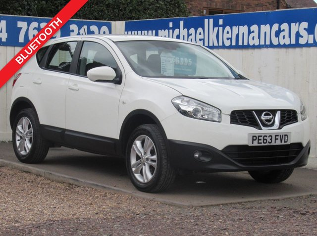 USED 2013 63 NISSAN QASHQAI 1.6 ACENTA 5d 117 BHP BLUETOOTH, AUX, ALLOYS