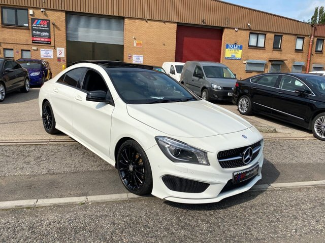 2015 64 MERCEDES-BENZ CLA 2.1 CLA220 CDI AMG SPORT 4d 170 BHP PAN ROOF FULL LEATHERS HEATED SEATS BIG SCREEN SAT NAV SOLD TO MR MAHMOOD FROM SHEFFIELD