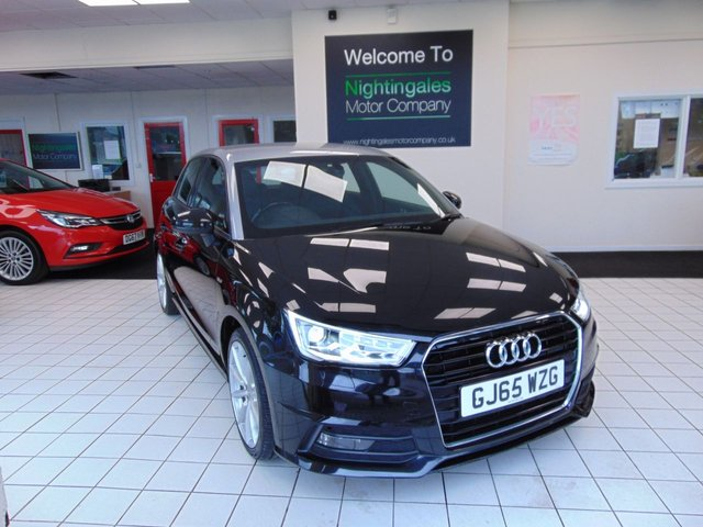 "USED 2015 65 AUDI A1 1.6 SPORTBACK TDI S LINE 5d 114 BHP THIS AUDI A1 1.6 TDI S LINE COMES WITH FULL SERVICE HISTORY + 12 MONTHS MOT + ONLY ONE PRIVATE OWNER FROM NEW + SATELLITE NAVIGATION + BLUETOOTH + TECHNOLOGY PACK + COMFORT PACK + CONTRAST ROOF LINE + ELECTRONIC CLIMATE CONTROL + CRUISE CONTROL + HALF LEATHER TRIM + ELECTRIC MIRRORS + REMOTE CENTRAL LOCKING + REAR PARKING SENSORS + CONCERT RADIO/CD/MP3 + ALLOYS + DIS ( DRIVER INFORMATION SYSTEM + 6.5"" HIGH GLOSS INFORMATION SYSTEM + ANTI THEFT LOCKING WHEEL BOLTS + EASY ENTRY FRONT SEATS + ZERO"
