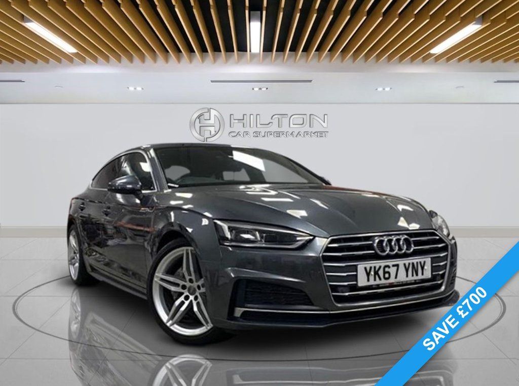 "USED 2017 67 AUDI A5 2.0 SPORTBACK TDI S LINE 5d 188 BHP Navigation System, Half-Leather Seats, 19"" Alloy Wheels, Parking Sensor(s), Climate Control"