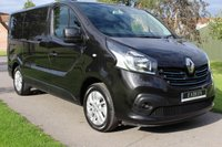 USED 2016 16 RENAULT TRAFIC 1.6 SL27 SPORT ENERGY DCI S/R P/V 120 BHP NO VAT - SPORT ENERGY - BLACK - VERY VERY CLEAN AND TIDY -