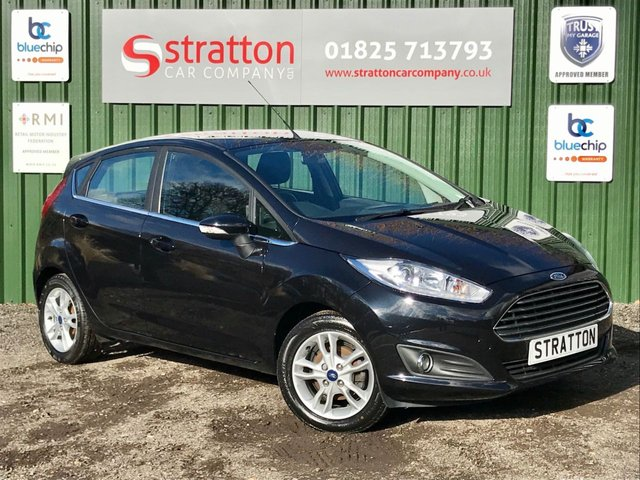 USED 2017 17 FORD FIESTA 1.0 ZETEC 5d 99 BHP COLOUR SAT NAV ONLY 21770 MILES