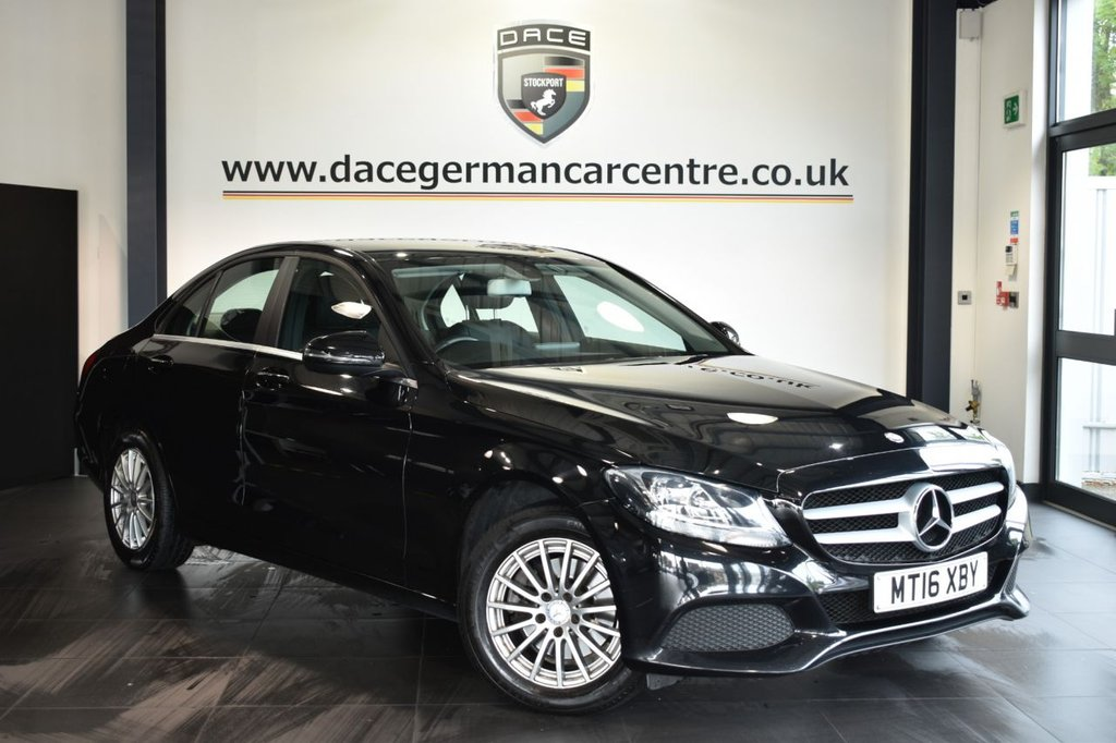 """USED 2016 16 MERCEDES-BENZ C-CLASS 2.1 C220 D SE 4DR AUTO 170 BHP Finished in a stunning obsidian black styled with 16"""" alloys. Upon opening the drivers door you are presented with leather interior, full service history, satellite navigation, bluetooth, cruise control, dab radio, reversing camera, rain sensors, touchpad with rotary pushbutton"""