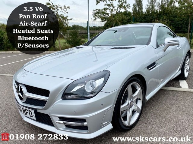 2011 61 MERCEDES-BENZ SLK 3.5 SLK350 BLUEEFFICIENCY AMG SPORT ED125 2d 306 BHP