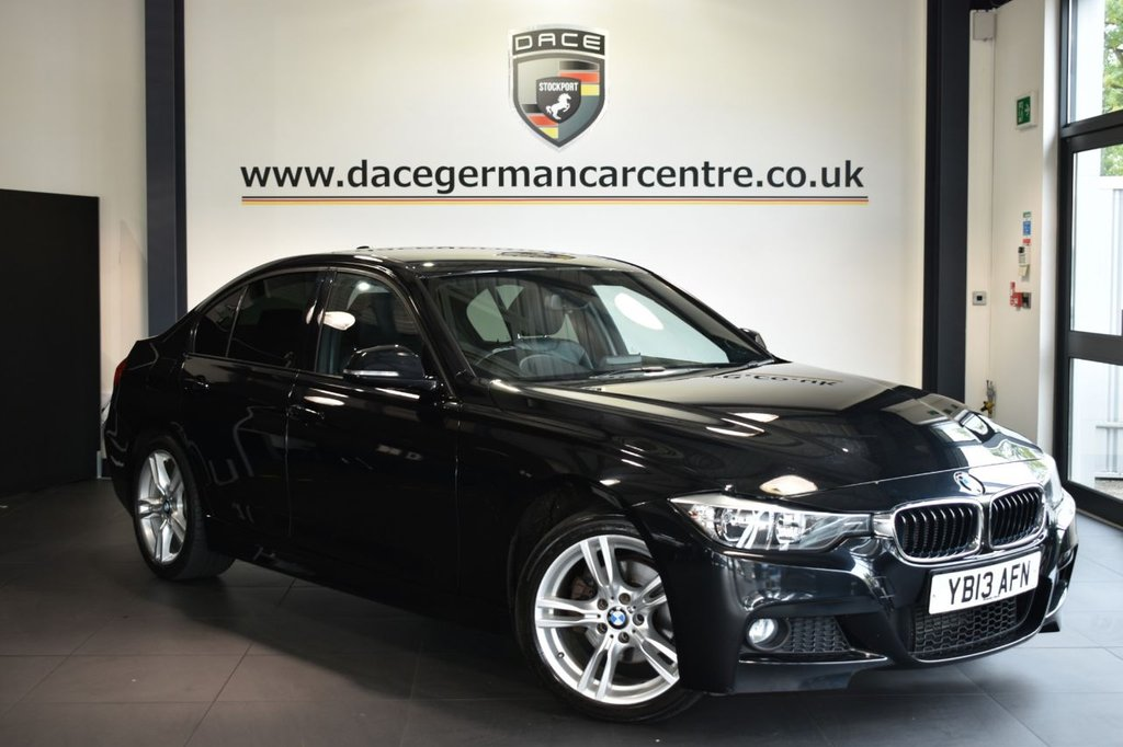 "USED 2013 13 BMW 3 SERIES 2.0 320D M SPORT 4DR AUTO 181 BHP Finished in a stunning sapphire metallic black styled with 18"" alloys. Upon opening the drivers door you are presented with full leather interior, excellent service history, satellite navigation, bluetooth, heated seats, dab radio, cruise control, Multifunction steering wheel, Automatic air conditioning, rain sensors, Light package, parking sensors"