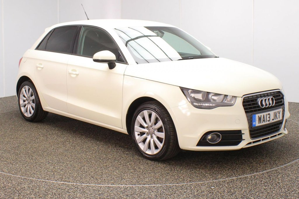 USED 2013 13 AUDI A1 1.6 SPORTBACK TDI SPORT 5DR 103 BHP FULL SERVICE HISTORY + FREE 12 MONTHS ROAD TAX + PARKING SENSOR + BLUETOOTH + MULTI FUNCTION WHEEL + AIR CONDITIONING + RADIO/CD/AUX/USB + PRIVACY GLASS + ELECTRIC WINDOWS + ELECTRIC/HEATED DOOR MIRRORS + 16 INCH ALLOY WHEELS