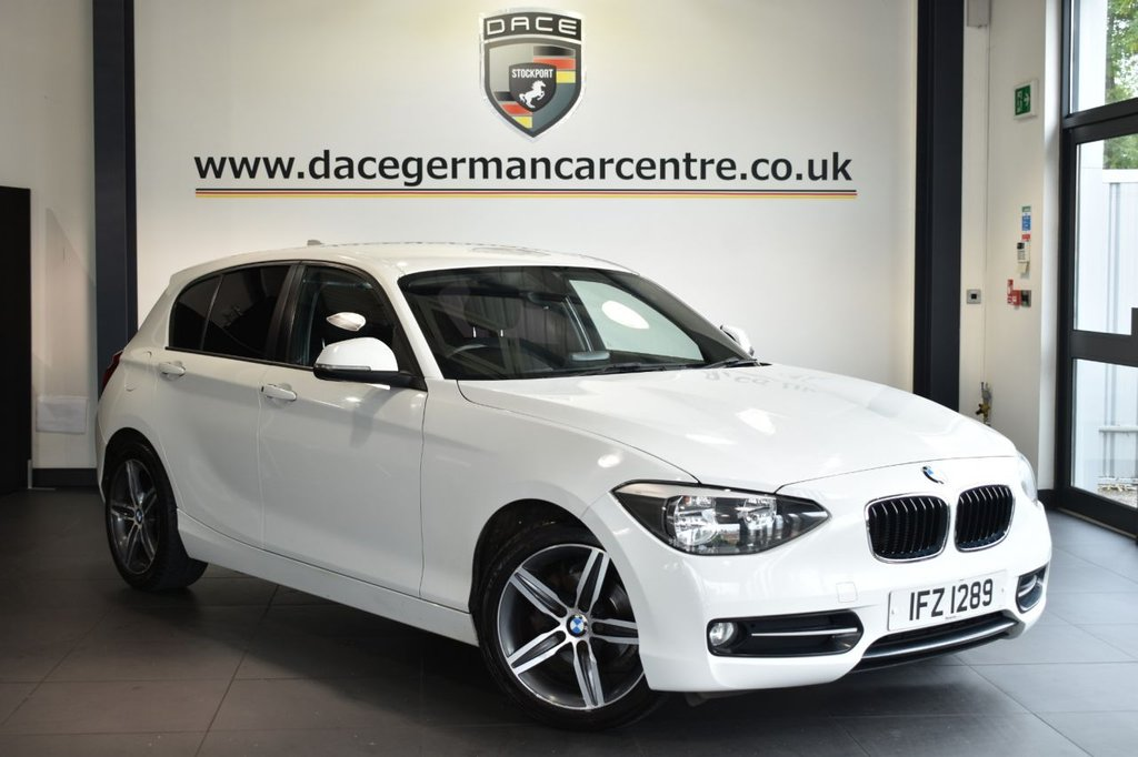 USED 2011 61 BMW 1 SERIES 2.0 116D SPORT 5DR 114 BHP Finished in a stunning alpine white styled with alloys. Upon opening the drivers door you are presented with cloth upholstery, excellent service history, bluetooth, sport seats, Multifunction steering wheel, Eco pro, Fog lights, Automatic locking during starting