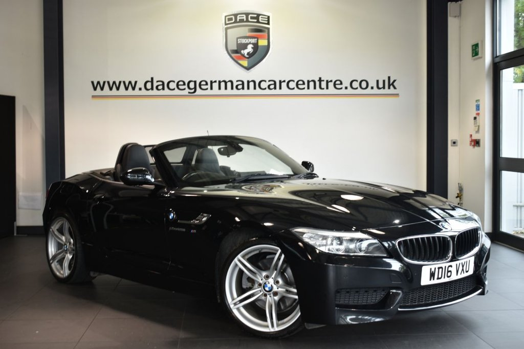 USED 2016 16 BMW Z4 2.0 Z4 SDRIVE28I M SPORT ROADSTER 2DR AUTO 242 BHP Finished in a stunning sapphire metallic black styled with alloys. Upon opening the drivers door you are presented with full leather interior, full service history, pro satellite navigation, bluetooth, heated seats, dab radio, cruise control, Automatic air conditioning, Headlight cleaning system, rain sensors, parking sensors