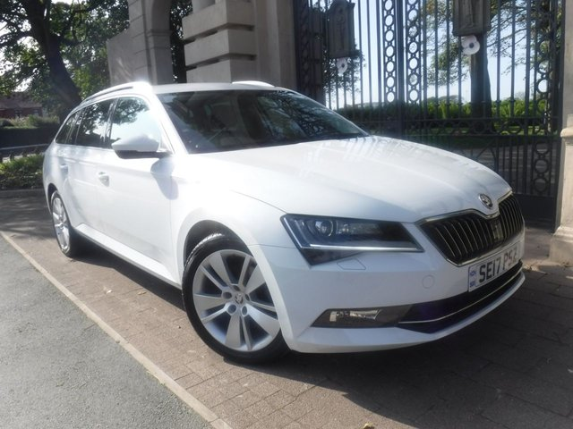 USED 2017 17 SKODA SUPERB 2.0 SE L EXECUTIVE TDI 5d 148 BHP 1 OWNER*PART LEATHER*NAV*APPLE CAR PLAY*REAR PS*CRUISE