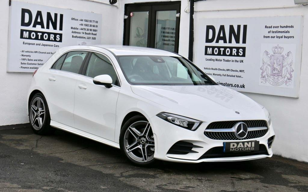 USED 2018 68 MERCEDES-BENZ A-CLASS 1.3 A180 AMG Line (Executive) 7G-DCT (s/s) 5dr 1 OWNER*SATNAV*REV CAMERA