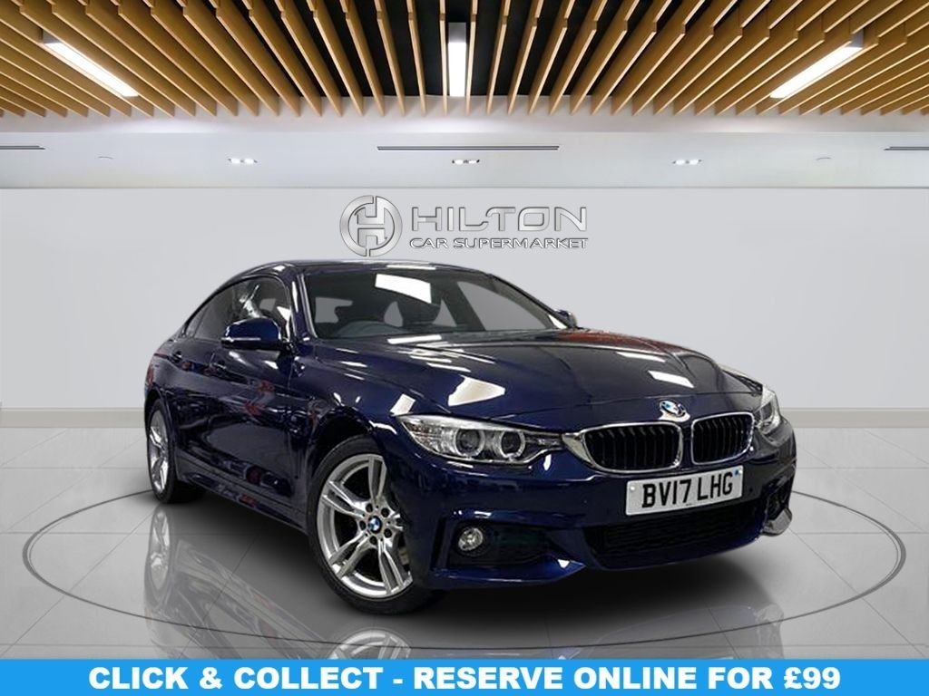 USED 2017 17 BMW 4 SERIES 3.0 430D XDRIVE M SPORT GRAN COUPE 4d 255 BHP Leather Seats, Automatic Transmission, Parking Sensor(s),  Climate Control