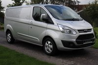 USED 2016 66 FORD TRANSIT CUSTOM 2.0 290 LIMITED LR P/V 129 BHP LIMITED - LWB - ONE OWNER - SILVER - TOP SPEC
