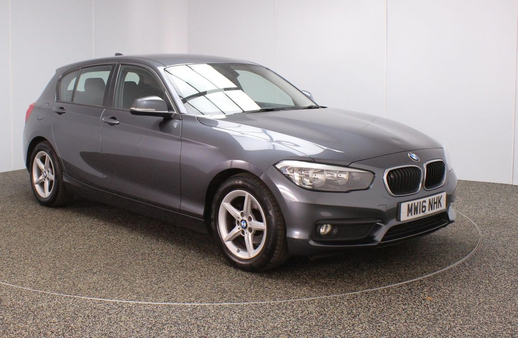 USED 2016 16 BMW 1 SERIES 1.5 116D ED PLUS 5DR 1 OWNER 114 BHP BMW SERVICE HISTORY + FREE 12 MONTHS ROAD TAX + SATELLITE NAVIGATION + PARKING SENSOR + BLUETOOTH + CRUISE CONTROL + AIR CONDITIONING + MULTI FUNCTION WHEEL + DAB RADIO + AUX/USB PORTS + ELECTRIC WINDOWS + ELECTRIC DOOR MIRRORS + 16 INCH ALLOY WHEELS