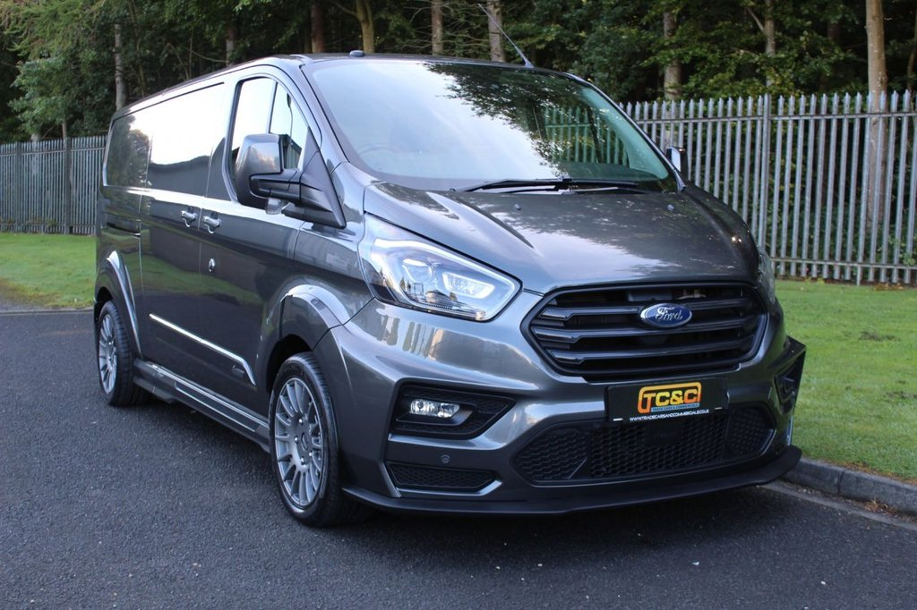 USED 2018 68 FORD TRANSIT CUSTOM 2.0 300 MS-RT M SPORT P/V L2 H1 168 BHP AUTO A GENUINE MS-RT ONE COMPANY OWNER LWB PANEL VAN WITH FORD HISTORY!!!