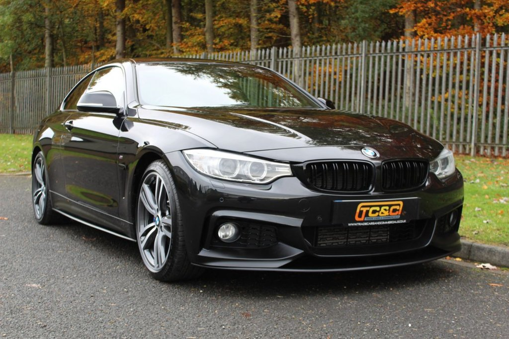 USED 2016 66 BMW 4 SERIES 2.0 420D M SPORT 2d 188 BHP A STUNNING CAR WITH M-PERFORMANCE STYLE BODYKIT, HIGH SPEC AND FULL BMW SERVICE HISTORY!!!
