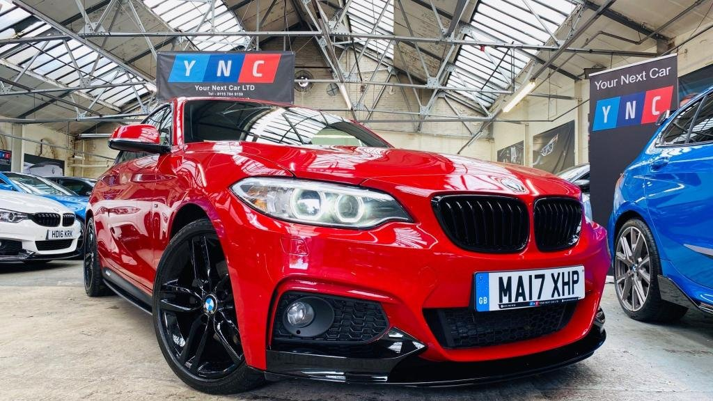 USED 2017 17 BMW 2 SERIES 2.0 220d M Sport Auto (s/s) 2dr PERFORMANCEKIT+HTDSEATS+XENONS