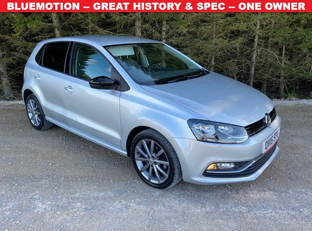USED 2015 15 VOLKSWAGEN POLO 1.4 SE DESIGN TDI BLUEMOTION 5d 75 BHP BLUEMOTION -- GREAT HISTORY & SPEC -- ONE OWNER