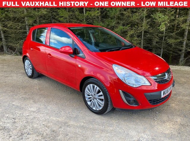 USED 2011 61 VAUXHALL CORSA 1.2 EXCITE AC 5d 83 BHP FULL VAUXHALL HISTORY -- ONE LADY OWNER -- LOW MILEAGE
