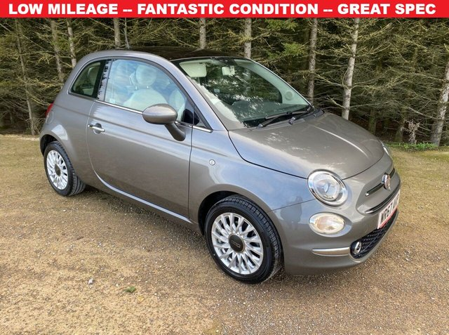USED 2017 67 FIAT 500 1.2 LOUNGE 3d 69 BHP LOW MILEAGE -- FANTASTIC CONDITION -- GREAT SPEC