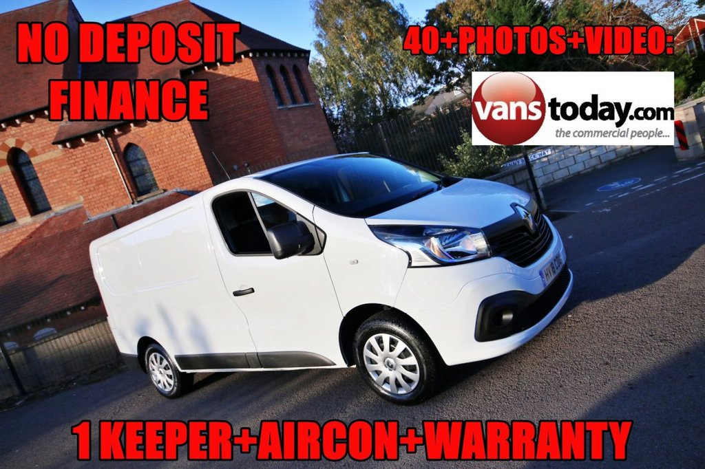 USED 2018 18 RENAULT TRAFIC 1.6 SL27 BUSINESS PLUS DCI 120 BHP + EURO 6 + AIR CON NO DEPOSIT FINANCE + AIR CON + 1 KEEPER + EURO 6