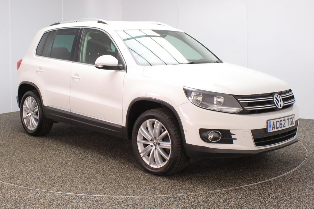 USED 2012 62 VOLKSWAGEN TIGUAN 2.0 SE TDI BLUEMOTION TECHNOLOGY 4MOTION DSG 5DR 138 BHP FULL SERVICE HISTORY + PARK ASSIST + PARKING SENSOR + BLUETOOTH + CLIMATE CONTROL + MULTI FUNCTION WHEEL + DAB RADIO + AUX/USB PORTS + PRIVACY GLASS + ELECTRIC WINDOWS + ELECTRIC/HEATED DOOR MIRRORS + 18 INCH ALLOY WHEELS