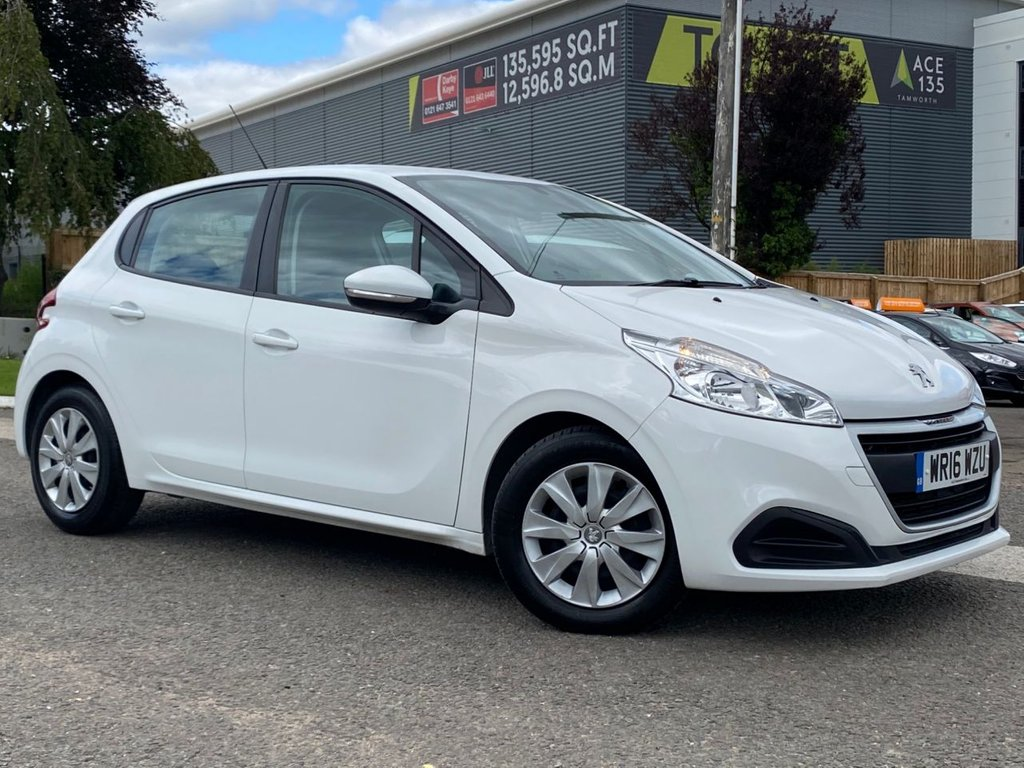 USED 2016 16 PEUGEOT 208 1.6 BLUE HDI ACCESS A/C 5d 75 BHP 1 OWNER FROM NEW, £0 ROAD TAX, 12 MONTHS MOT, AIR CONDITIONING, BLUETOOTH