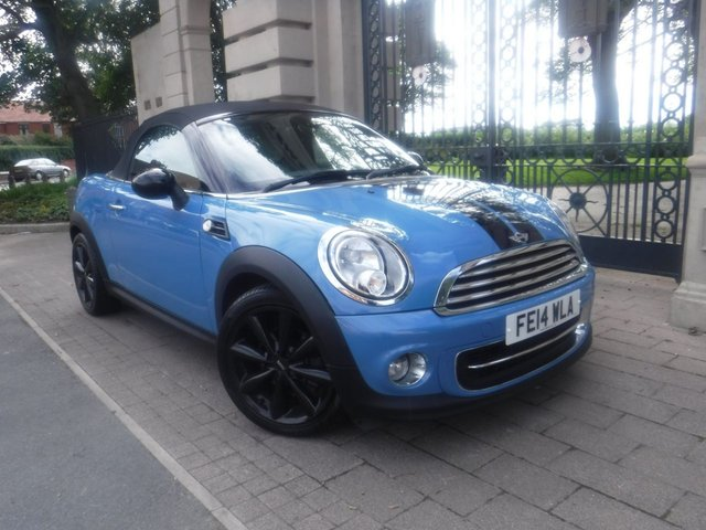 USED 2014 14 MINI ROADSTER 1.6 COOPER 2d 120 BHP LEATHER*CRUISE*BTOOTH*ELECTRIC ROOF*REAR PARKING SENSOR