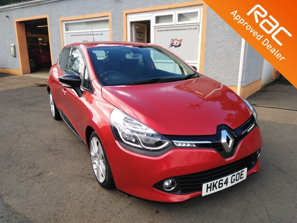"USED 2014 64 RENAULT CLIO 1.1 DYNAMIQUE MEDIANAV 5d 75 BHP Media player, Touchscreen Sat Nav, 16"" Alloys, Front Fogs, Cruise Control, USB"
