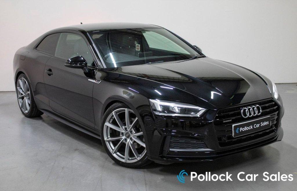 USED 2017 AUDI A5 2.0 TDI QUATTRO S LINE 190BHP Black Edition styling, virtual cockpit, Exclusive interior