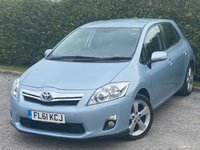 USED 2011 61 TOYOTA AURIS 1.8 T SPIRIT 5d Automatic SATELLITE NAVIGATION, ALLOYS