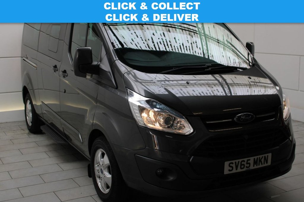 USED 2015 65 FORD TOURNEO CUSTOM 2.2 TDCi 300 Titanium Low Roof Shuttle Bus 5dr Diesel Manual L (9 Seats, LWB) (172 g/km, 123 bhp)
